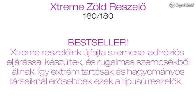Xtreme íves-egyenes zöld zebra reszelő