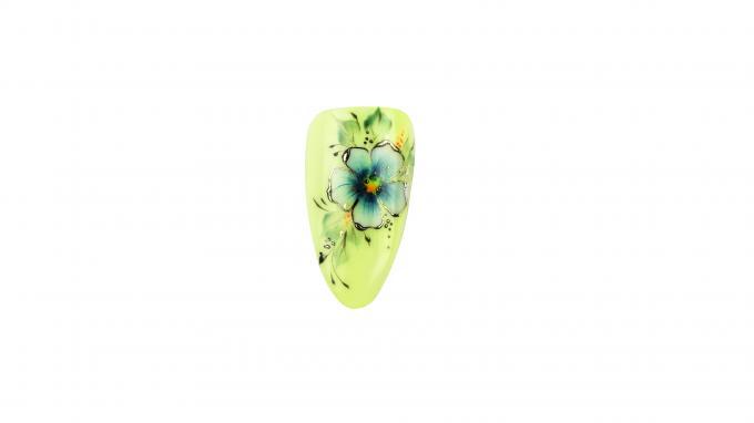 Egy Mozdulat virág díszítés Royal Gel-ből