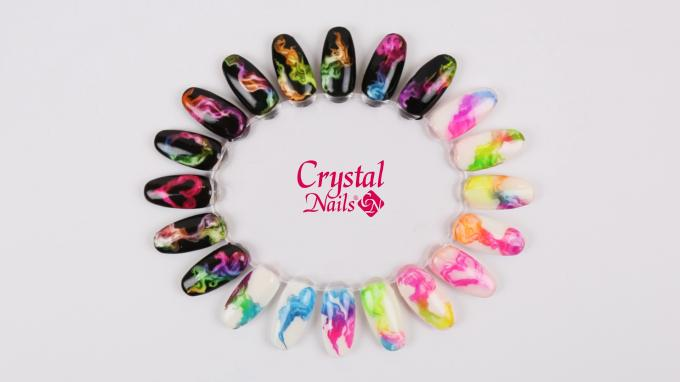 Crystal Nails Color Vortex technika
